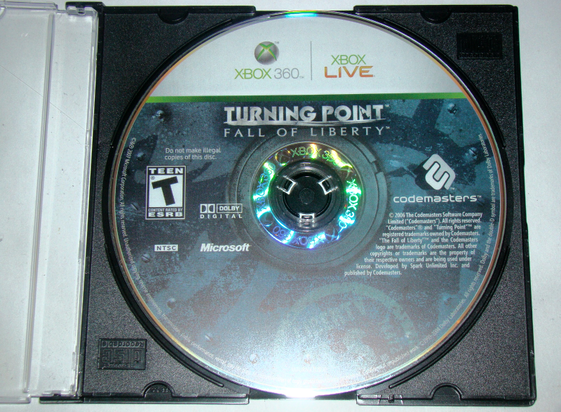 XBOX 360 - TURNING POINT - FALL OF LIBERTY (Game Only)