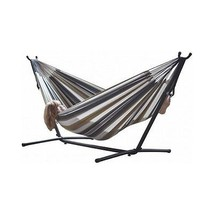 Double Hammock 9FT Steel Stand Carrying Case Space Saving Portable Hangi... - $170.79