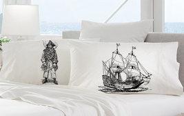 Red Nautical Tall Clipper pirate Ship Sail Boat Pillowcases