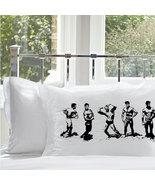 One (1) Black MUSCLE BEACH vintage retro art pillowcase men 1950s 50s 40... - $11.99