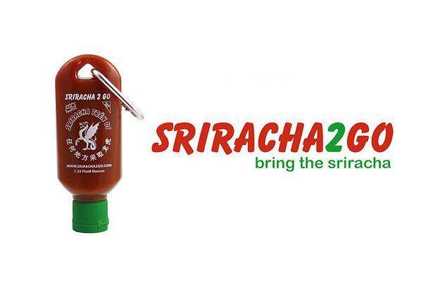 Sriracha 2 Go Keychain Refillable Sriracha Mini Refillable Bottle Keychain