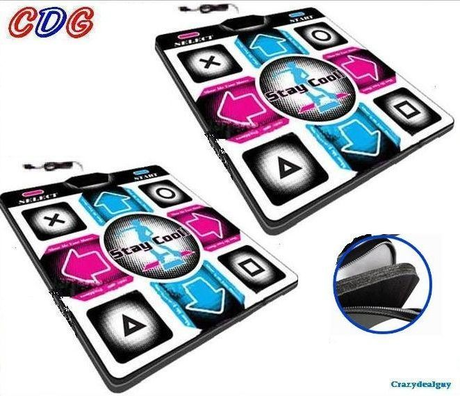 2x Deluxe 1 inch FOAM DDR DANCE Pads for Playstation PS1, PS2 V4