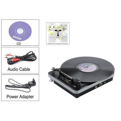 USB Vinyl Turntable - RCA Stereo Output Jacks - PС Recording