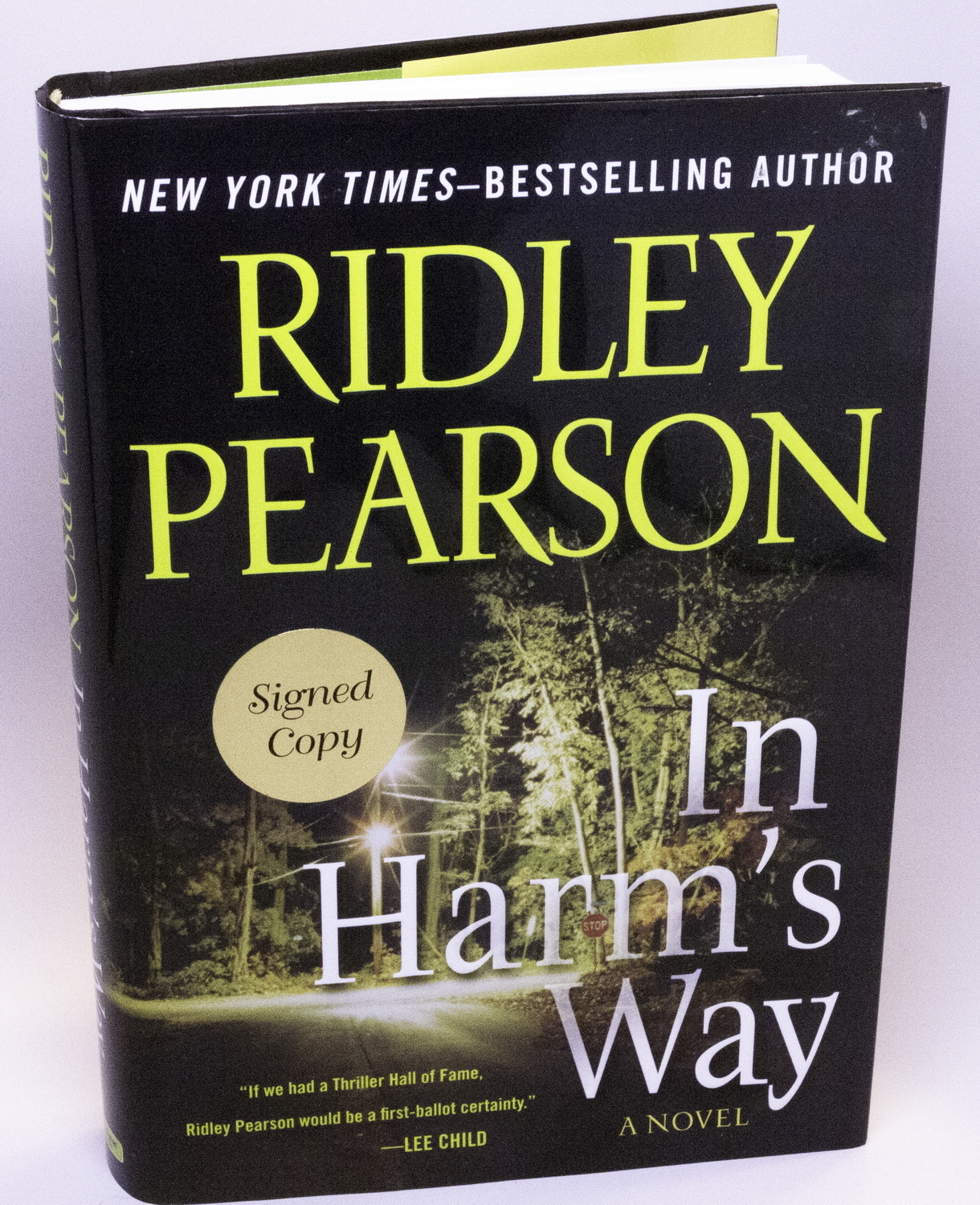 2010 Signed 1st Edition & Printing Book, In Harm's Way by Ridley Pearson