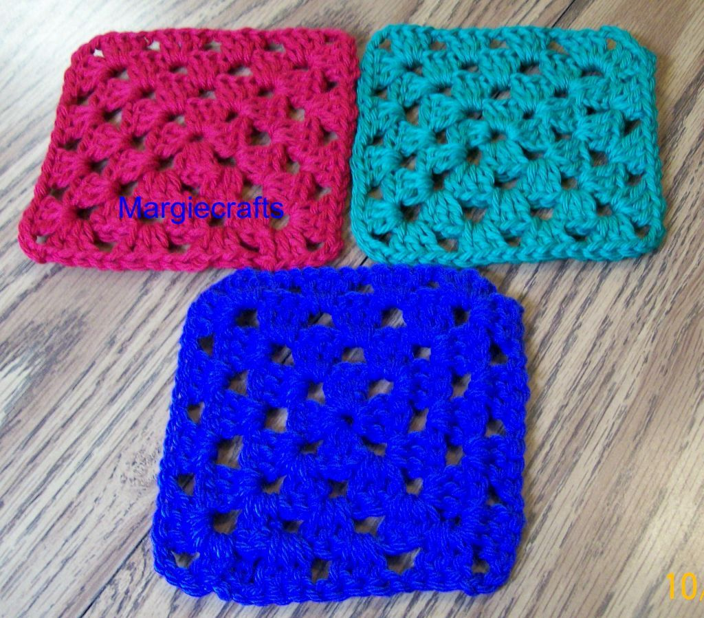 Christmas Drink Coasters, Handmade, Crochet, Blue, Green, Red, Drink Mat, Square
