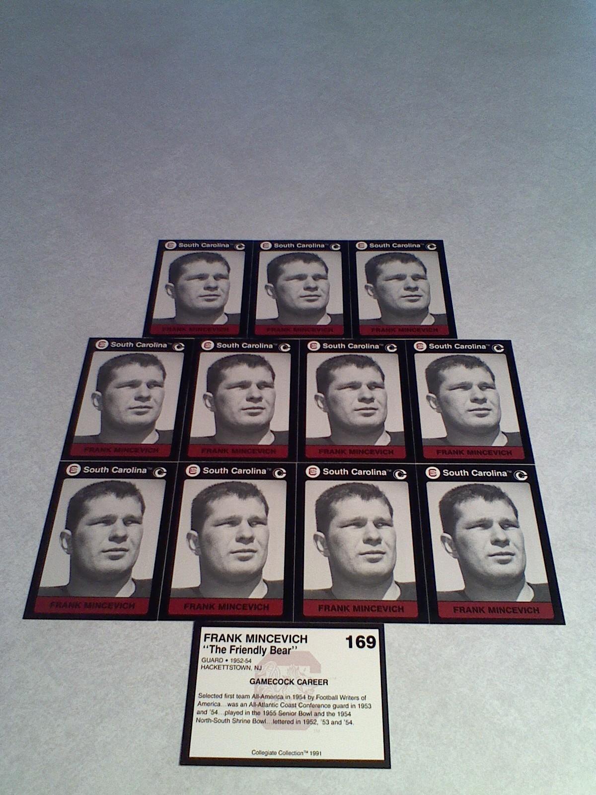 ***FRANK MINCEVICH***   Lot of 12 cards / South Carolina