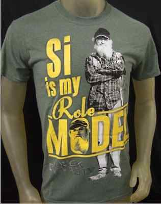 MENS DUCK DYNASTY PULLOVER CREWNECK T SHIRT SI IS MY ROLE MODEL LARGE GRN COTTON