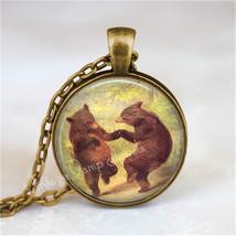 DANCING BEARS Necklace, Bear Jewelry, Bear Pendant, William Beard, Bear ... - €11,38 EUR