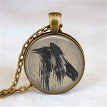 RAVEN Necklace, Raven Jewelry, Raven Pendant, Black Raven, Black Bird, C... - €11,38 EUR