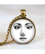 FORNASETTI FACE Necklace, Woman with Bee On Nose, Fornasetti Jewelry, Fo... - $12.95