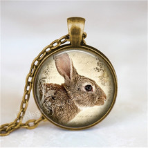 RABBIT  Necklace, Bunny Necklace, Rabbit Jewelry, Rabbit Pendant, Rabbit... - $12.95