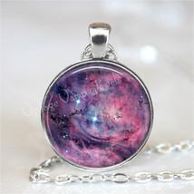 LAGOON NEBULA Necklace, Nebula Pendant, Outer Space, Galaxy, Planet, Uni... - $12.95
