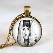 FORNASETTI FACE Necklace, Woman and Alligator, Crocodile, Fornasetti Jew... - $12.95