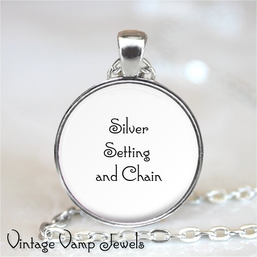 ALICE In WONDERLAND QUOTE Necklace, Were All Mad Here, Book Quote, Fantasy, Quot
