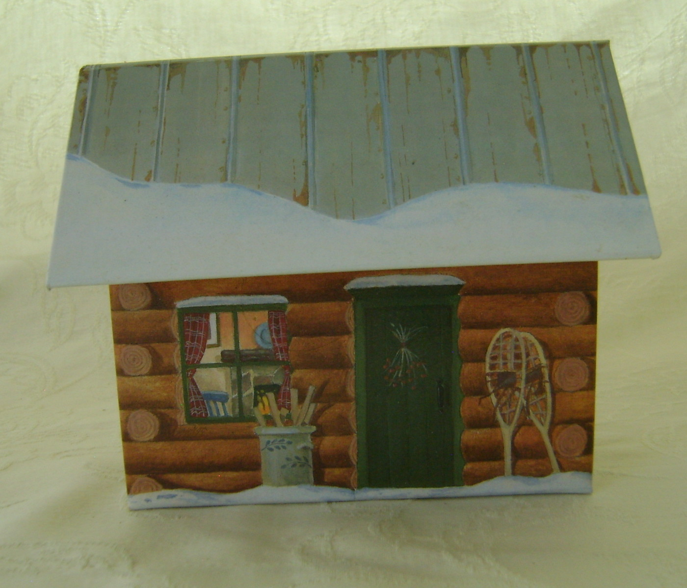 Upcycled Log Cabin Recipe File w/Recipes & Cookie Cutters