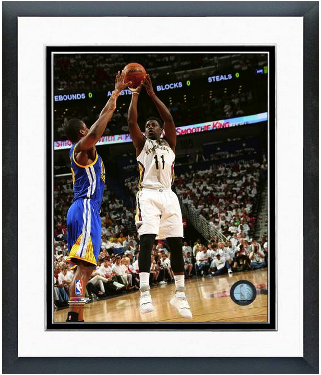 Jrue Holiday Pelicans 2014-15 NBA Playoffs  - 11 x 14 Matted/Framed Photo
