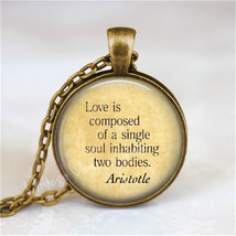 LITERARY QUOTE Necklace, Quote Jewelry, Inspirational Quote, Romantic Qu... - $12.95