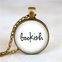 BOOKISH Necklace, Book Lover, Book Nerd, Library, Librarian, Book Jewelr... - $12.95