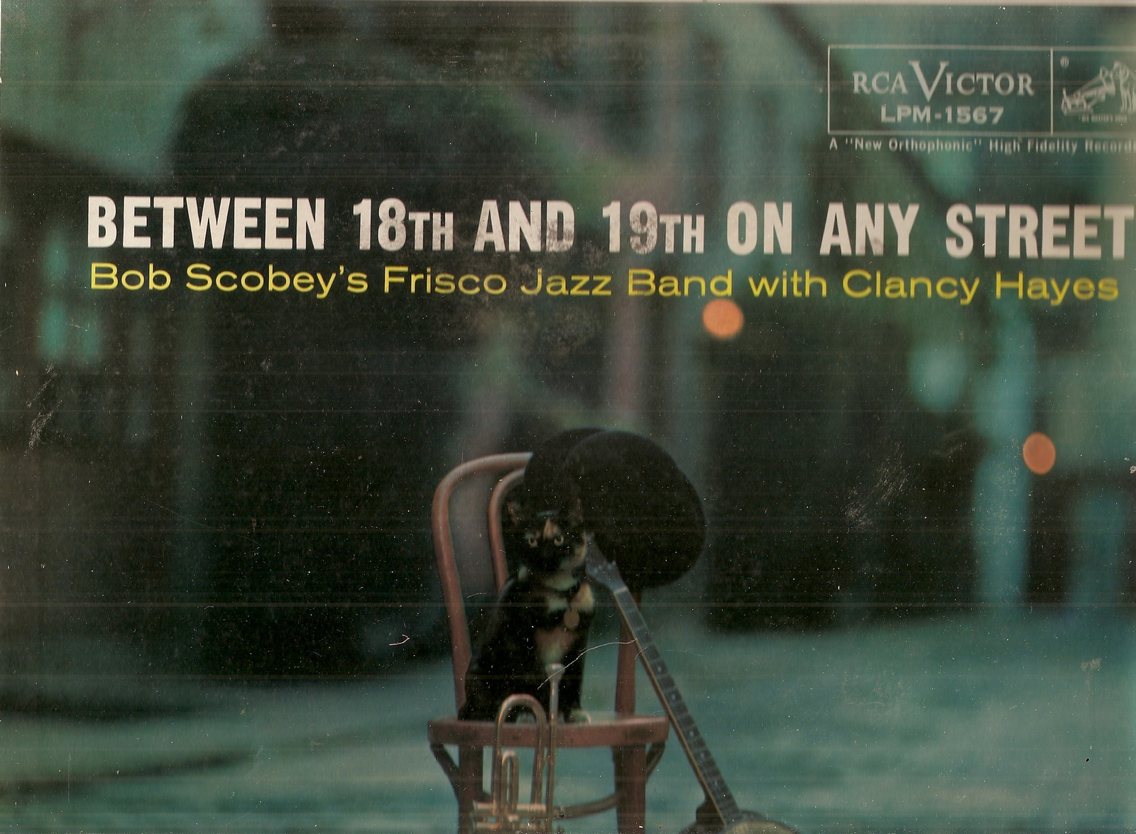 LP  Bob Scobey's Frisco Jazz Band* With Clancy Hayes ‎– Between 18th And 19th On