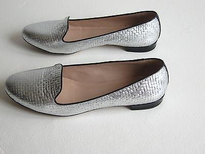 Silver Basketweave Mackenzie Slippers s6us/36eu