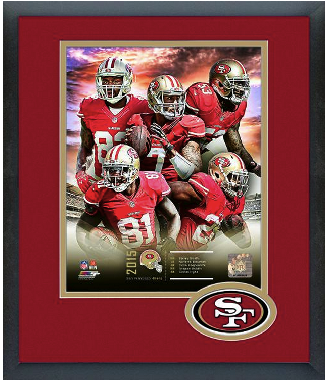 San Francisco 49ers 2015 Team Composite -11 x 14 Team Logo Matted & Framed Photo