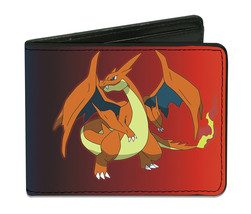 Pokemon Mega Charizard X and Y Red/Blue Bi-Fold Wallet *NEW* - $23.99