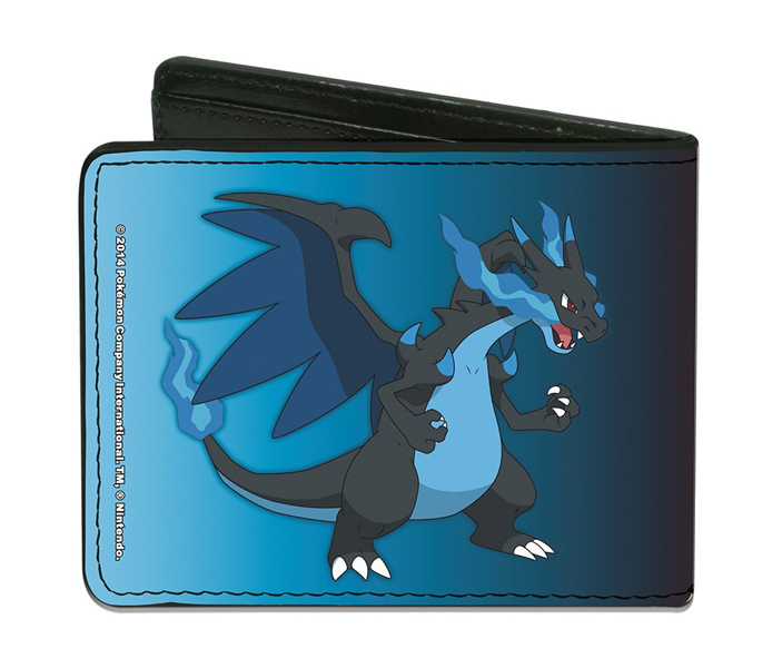 Pokemon Mega Charizard X and Y Red/Blue Bi-Fold Wallet *NEW*