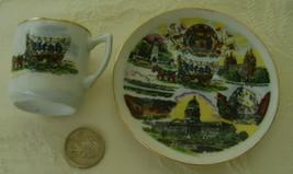 Miniature Souvenir Cup & Saucer Utah - $6.00