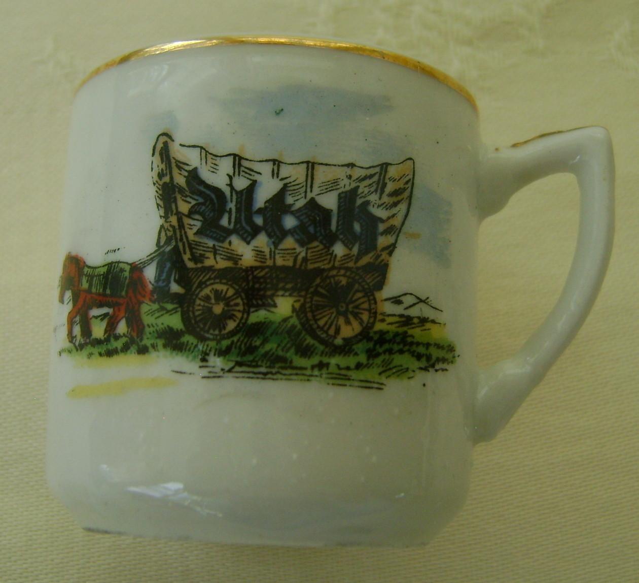 Miniature Souvenir Cup & Saucer Utah