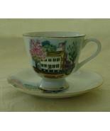 Miniature Souvenir Tea Cup & Saucer, Springfield, IL - $6.00