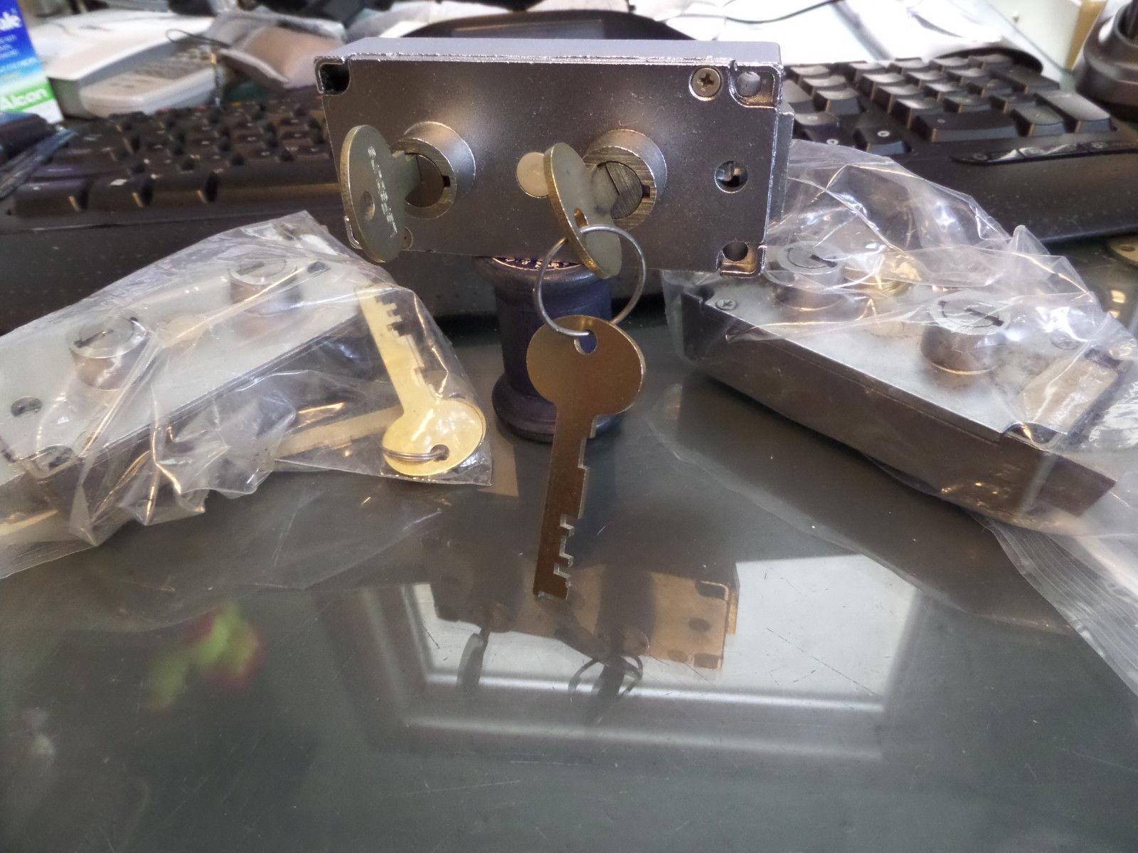 Locksmith Security LeFebure 7737 safe deposit dual control lock. New Keys silver