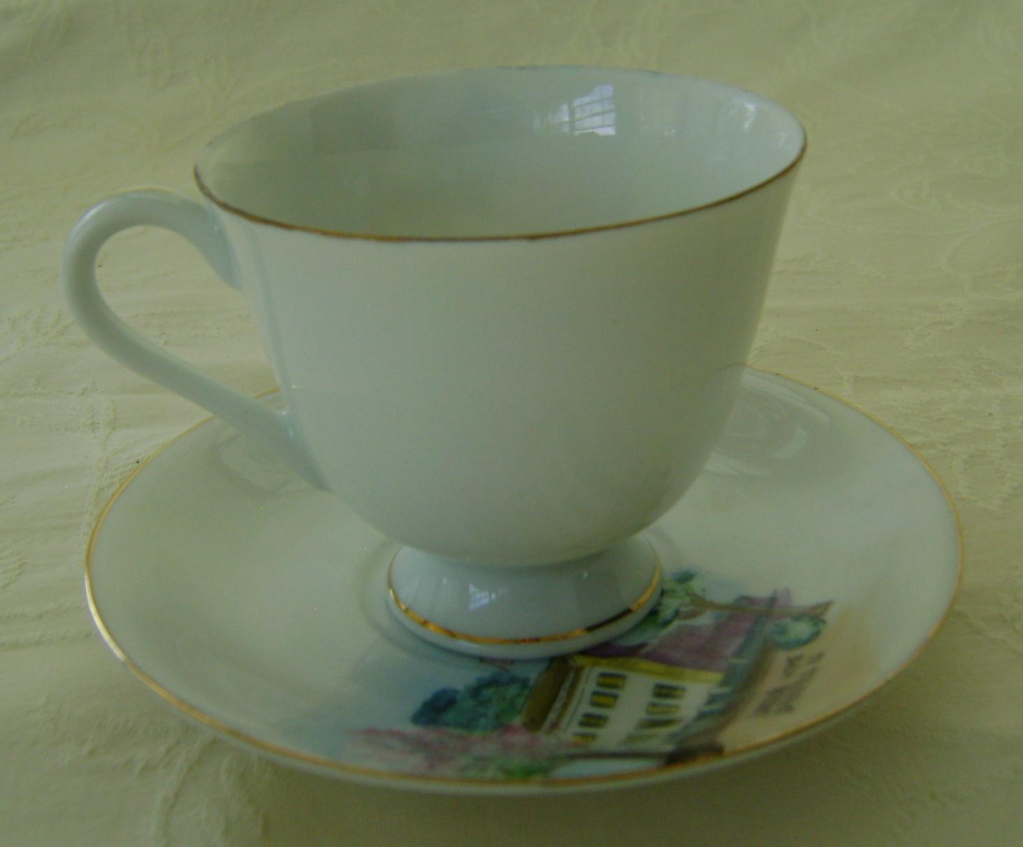 Miniature Souvenir Tea Cup & Saucer, Springfield, IL