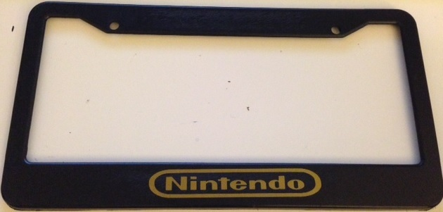 Nintendo black with gold plate