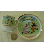 Miniature Cup & Saucer, Missouri - $6.00