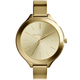 Chic Women Watch Gold-Toned Stainless Steel Time Elegant Water Resistant 185 ft.