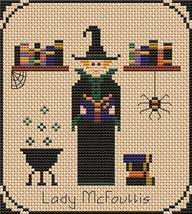 Lady McFoullis Pt1 Coven of Year Halloween SAL cross stitch chart Stitchers Anon - $7.00