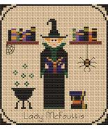 Lady McFoullis Pt1 Coven of Year Halloween SAL cross stitch chart Stitch... - $7.00