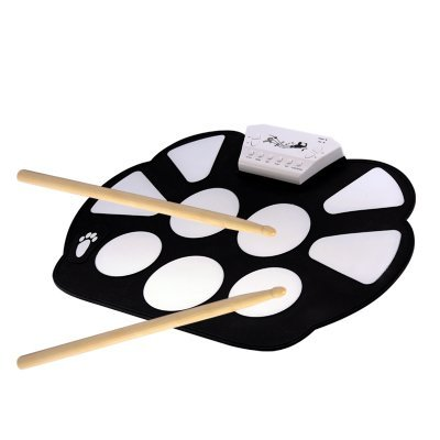 Flexible Mat Portable Drum Pad Included Drumsticks and Pedals  (Hot Item)
