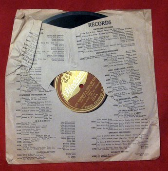 Vtg Silvertone Record Nathan Glantz Joseph Samuels 78 rpm Sleeve Regal Fox Trot