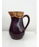Vintage R.R.P.Co. Roseville Brown Drip Glaze Gravy Pitcher Pottery - €7,12 EUR