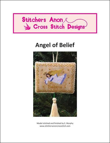 Angel of Belief christmas cross stitch chart Stitchers Anon Design