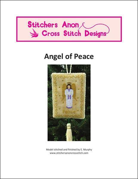 Angel of Peace christmas cross stitch chart Stitchers Anon Design