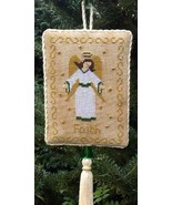 Angel of Faith christmas cross stitch chart Stitchers Anon Design - $6.50