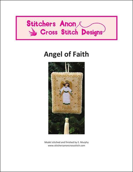 Angel of Faith christmas cross stitch chart Stitchers Anon Design