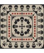 Skullduggery halloween cross stitch chart Stitchers Anon Designs - $7.00