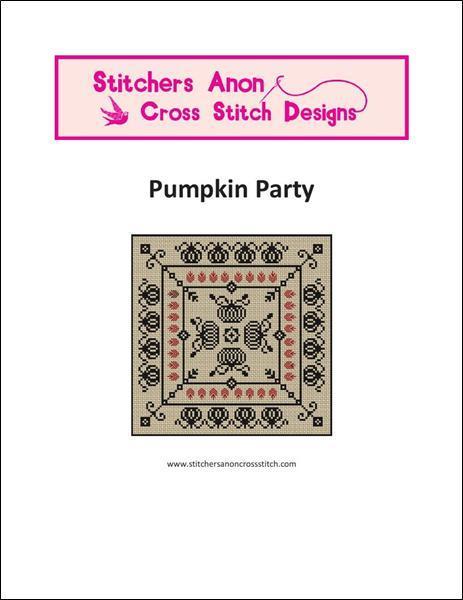 Pumpkin Party halloween cross stitch chart Stitchers Anon Designs