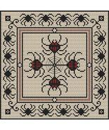 Festival of Spiders halloween cross stitch chart Stitchers Anon Designs - $7.00