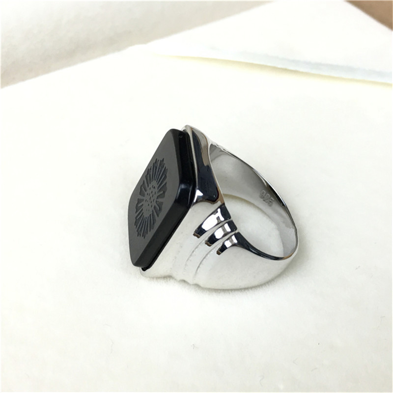 The Great Gatsby High Quality Men's Ring Black Onyx 925 Sterling Silver Ring Men