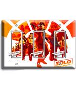 A STAR WARS HAN SOLO STORY CHEWBACCA 3 GANG GFI LIGHT SWITCH WALL PLATE ROOM ART - £11.77 GBP