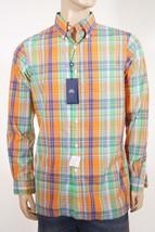 Ralph Lauren Men's Blue Orange Plaid Button Down Collar Casual Dress Shi... - $43.99